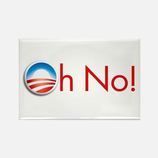Oh No! Obama Rectangle Magnet