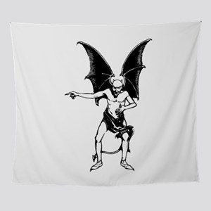 Vintage Pointing Devil Wall Tapestry