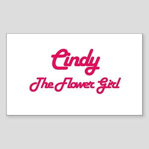 Cindy - Flower Girl Rectangle Sticker