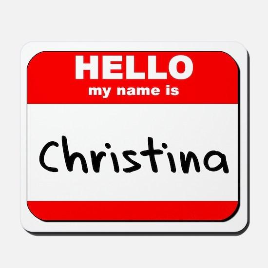 Hello my name is Christina Mousepad