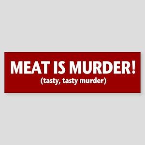 Tasty Murder Bumper Sticker