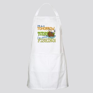 Today I'm Going Fishing BBQ Apron