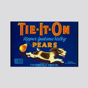 TIe-it-On Pears fruit crate Rectangle Magnet