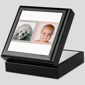 Keepsake Box poedel and baby