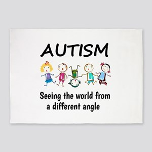 Autism...seeing the world from a di 5'x7'Area Rug