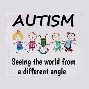 Autism...seeing the world from a dif Throw Blanket