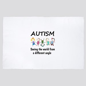 Autism...seeing the world from a diffe 4' x 6' Rug