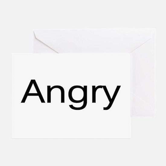 """Angry"" Greeting Card"