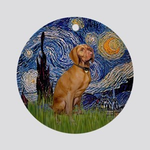Starry Night Vizsla Keepsake (Round)