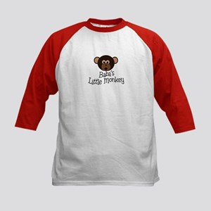 Baba's Little Monkey Boy Kids Baseball Jersey