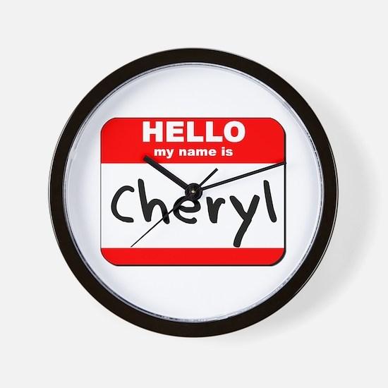 Hello my name is Cheryl Wall Clock