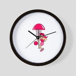 Pink Hoops Wall Clock