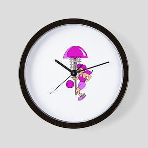Purple Hoops Wall Clock