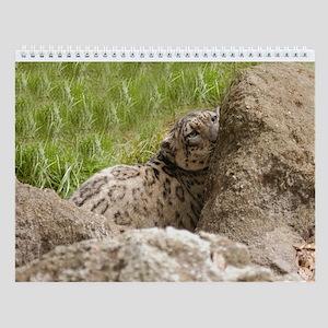 Snow Leopard B001 Wall Calendar