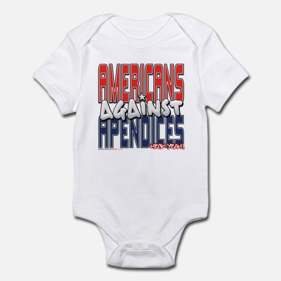 Americans Against Apendices [ Infant Bodysuit
