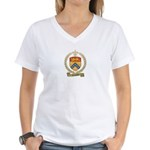GODBOUT Family Crest Women's V-Neck T-Shirt