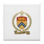 GODBOUT Family Crest Tile Coaster