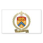 GODBOUT Family Crest Rectangle Sticker 50 pk)