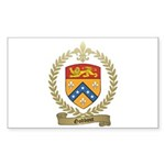 GODBOUT Family Crest Rectangle Sticker 50 pk)