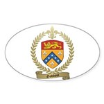 GODBOUT Family Crest Oval Sticker (50 pk)