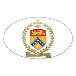 GODBOUT Family Crest Oval Sticker (10 pk)