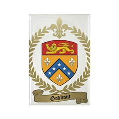 GODBOUT Family Crest Rectangle Magnet (10 pack)