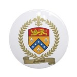 GODBOUT Family Crest Ornament (Round)
