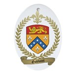 GODBOUT Family Crest Oval Ornament