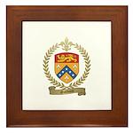 GODBOUT Family Crest Framed Tile