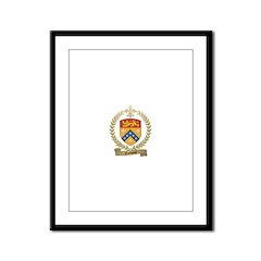GODBOUT Family Crest Framed Panel Print