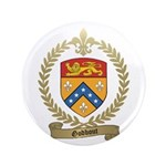 """GODBOUT Family Crest 3.5"""" Button"""