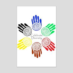 Celebrate Diversity Circle Mini Poster Print