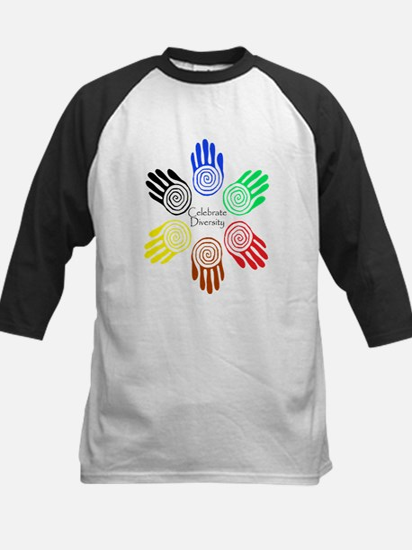 Celebrate Diversity Circle Kids Baseball Jersey