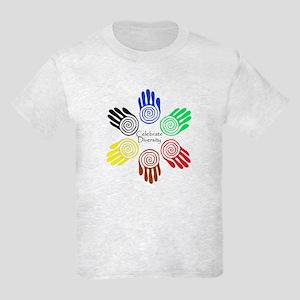 Celebrate Diversity Circle Kids Light T-Shirt