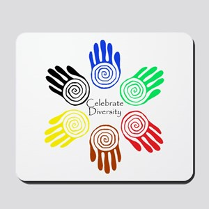 Celebrate Diversity Circle Mousepad