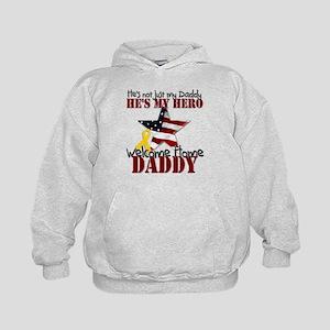 Welcome Home Daddy My Hero Kids Hoodie