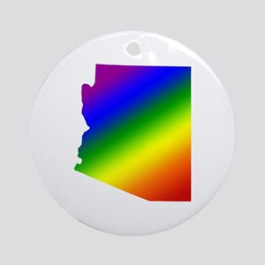 Arizona Gay Pride Ornament (Round)
