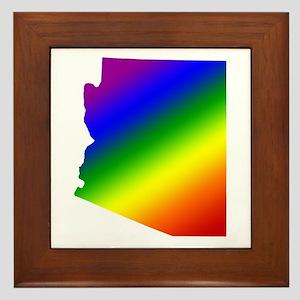 Arizona Gay Pride Framed Tile