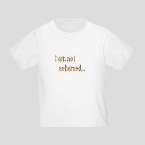 I am not ashamed Christian Toddler T-Shirt