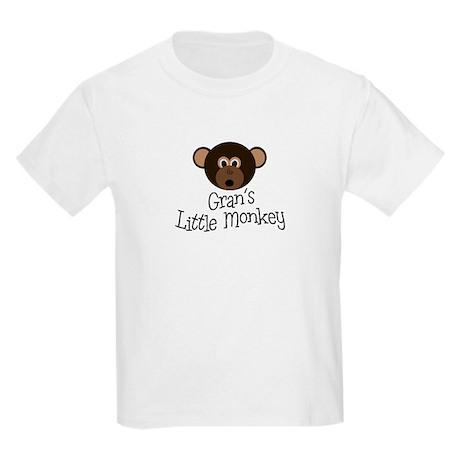 Gran's Little Monkey Boy Kids Light T-Shirt