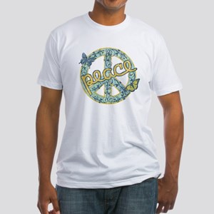 Vintage Retro Peace Fitted T-Shirt