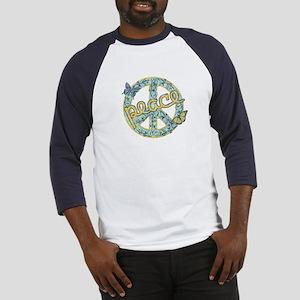 Vintage Retro Peace Baseball Jersey
