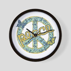 Vintage Retro Peace Wall Clock