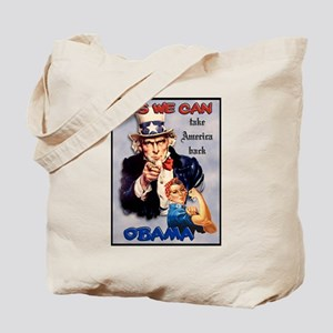 Uncle Sam Rosie Riveter for Obama Tote Bag