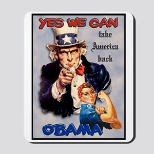 Uncle Sam Rosie Riveter for Obama Mousepad