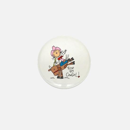 Ride Em Cowgirl Mini Button