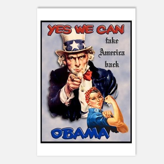 Uncle Sam Rosie Riveter for Obama Postcards (Packa
