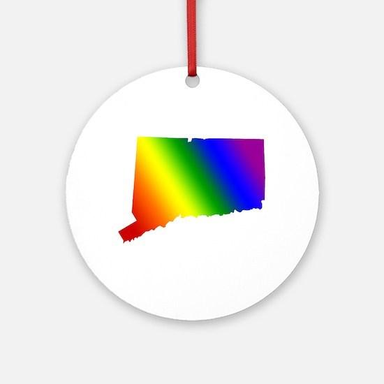 Connecticut Gay Pride Ornament (Round)