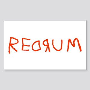 Redrum Rectangle Sticker