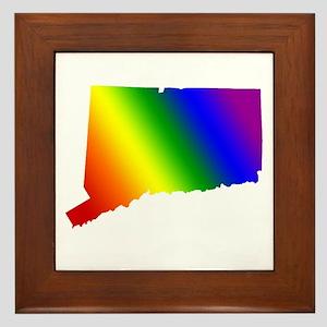 Connecticut Gay Pride Framed Tile